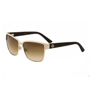 ea2ce39bb5f Gucci Ivory Gold and Brown Gg 4263 S Lpijd Sunglasses - Tradesy