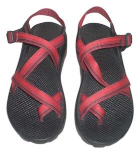 Chaco Red/black Sandals