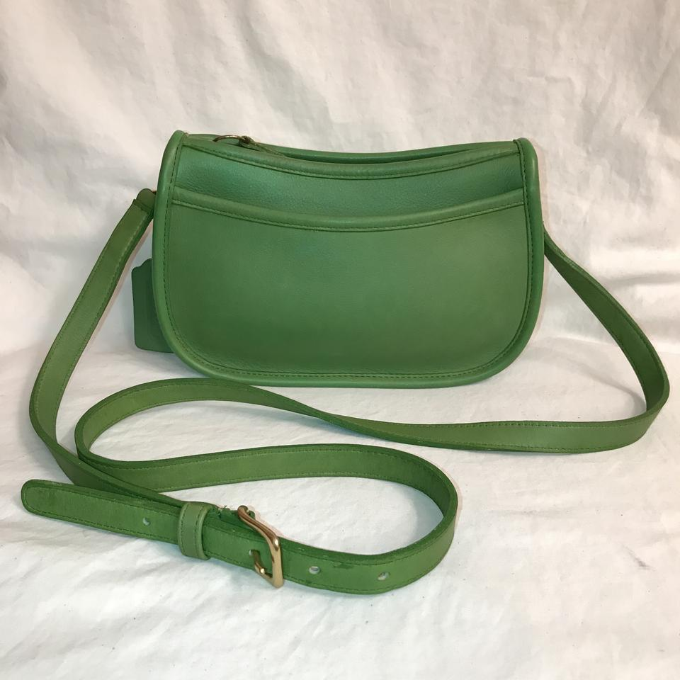 87ee767959df ... usa 9092 6a84c official store vintage green leather coach bag 17dcf  5889c promo code for coach purse handbag shoulder vintage weekend travel cross  body ...