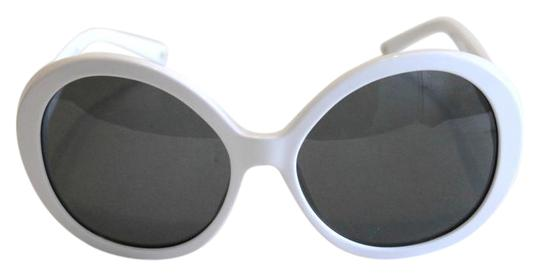 33560acbfd Chanel White Collection Perle Round Black Faux Pearl Beads 56mm Sunglasses  - Tradesy