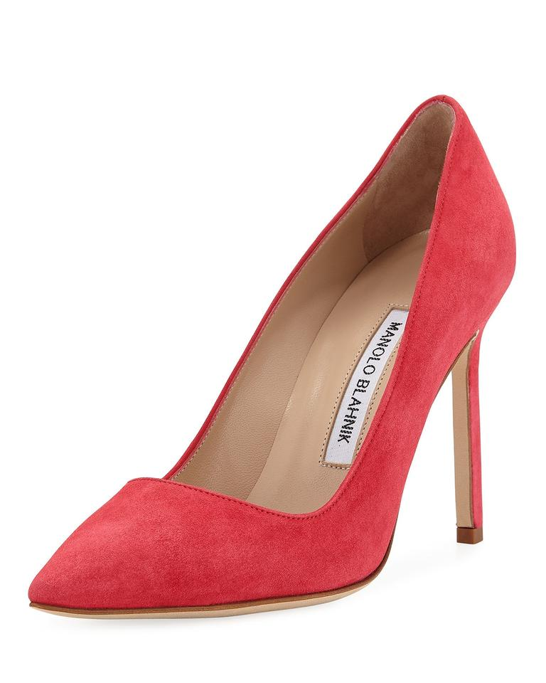4d7102c830a4 Manolo Blahnik Stawberry Bb 105 Pink Suede Leather Point Toe Classic ...