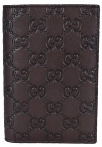Gucci NEW Gucci Men's 154694 Brown Leather GG Guccissima Passport Wallet