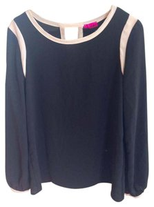 i.Ner Casual Working Top Black with white details