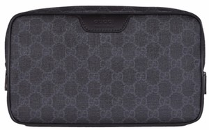Gucci New Gucci Men's 368556 GG Supreme Guccissima Large Toiletry Dopp Bag