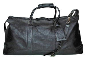 The Cambridge Satchel Company To School To College Vintage Pebbled Leather Black Travel Bag
