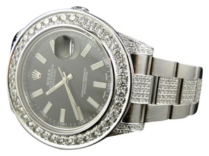 Rolex Custom Mens New 41 MM Date Just Il 2 With Genuine Diamonds 12.5 Ct