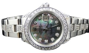 Rolex Datejust 26MM Oyster Black MOP Dial Diamond 8.0 Ct