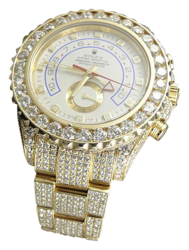 out diamond pave iced hip rapper s watch tone ebay bling itm gold hop men simulated techno