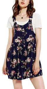 Urban Outfitters short dress Purple Floral Overalls Jumpsuit Festival Bohemian on Tradesy