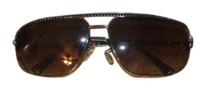 Louis Vuitton Black/ Brown Louis Vuitton Alias GM Monogram Aviator Sunglasses Unisex