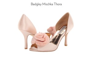 Badgley Mischka Blush (Pink Satin) Thora Evening Pumps Size US 8.5 Regular (M, B)