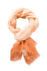 Salvatore Ferragamo Cream & Orange Silk Oblong Floral Scarf