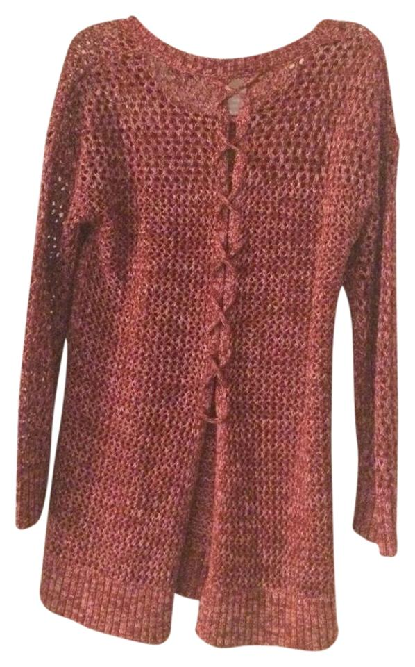 e43c2857ebbb1 Lucky Brand Lace Up Knit Crochet Back Detail New Sweater Image 0 ...