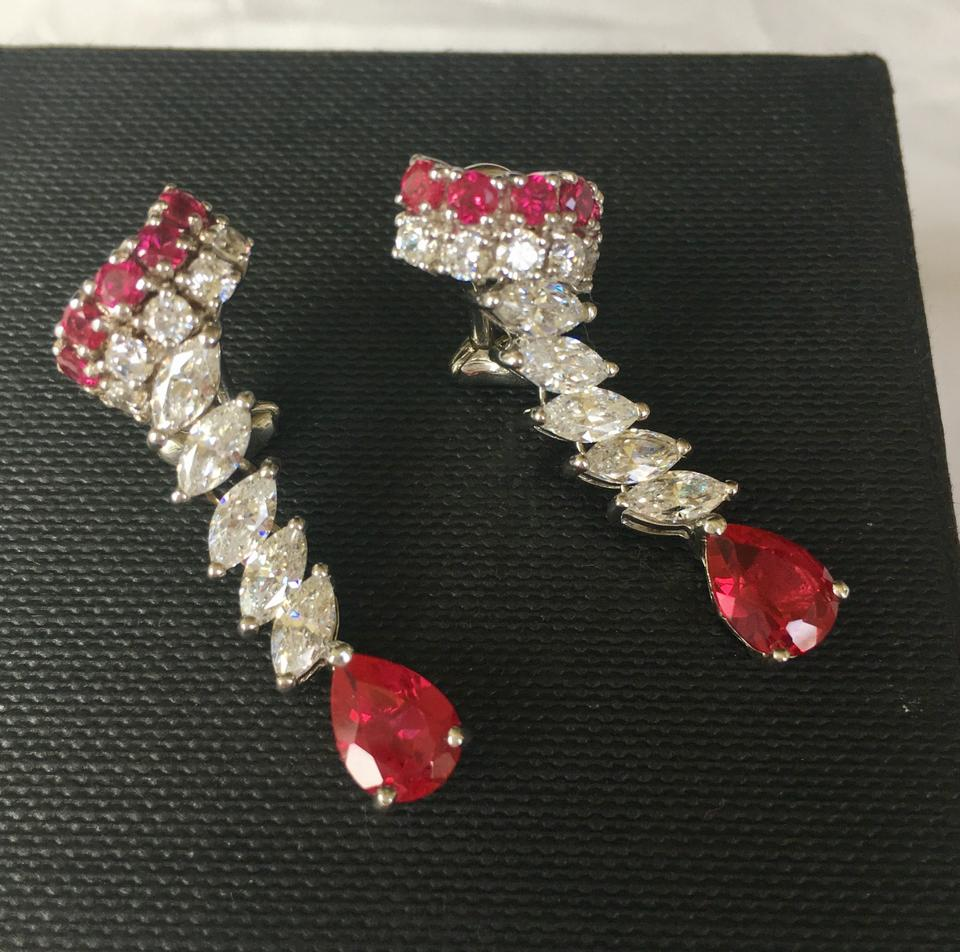 in cut red stud majesty o solitaire yellow gold earrings round ruby bijoux prong gemstone