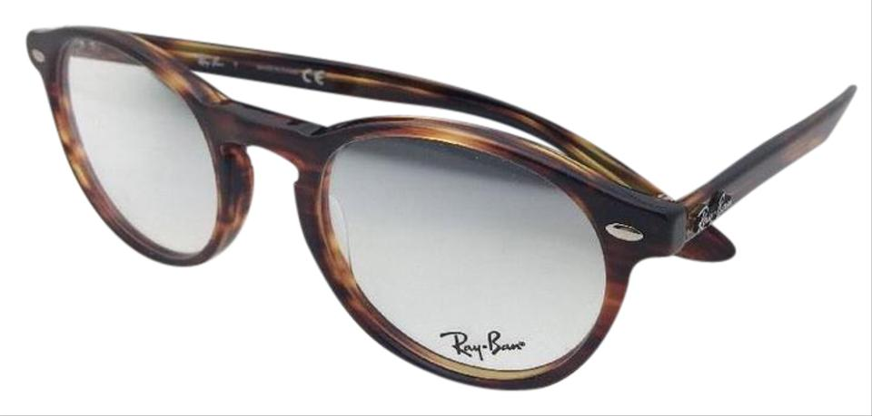 f1c2309e4b1 Ray-Ban New Icons Rb 5283 2144 51-21 145 Striped Havana Round Frames ...