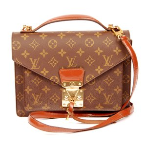 Louis Vuitton Canvas Monceau Vintage Leather Cross Body Bag