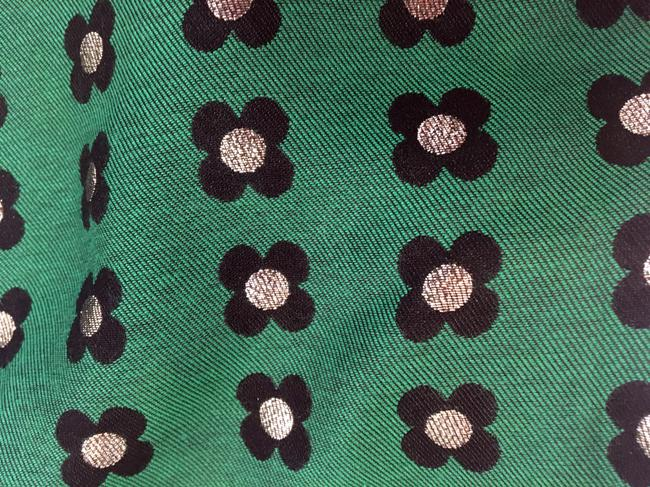 Anthropologie Floral Retro Embroidered Mini Skirt Green Image 3