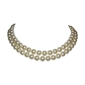 Salvatore Ferragamo Salvatore Ferragamo Double Strand Simulated Pearl Necklace