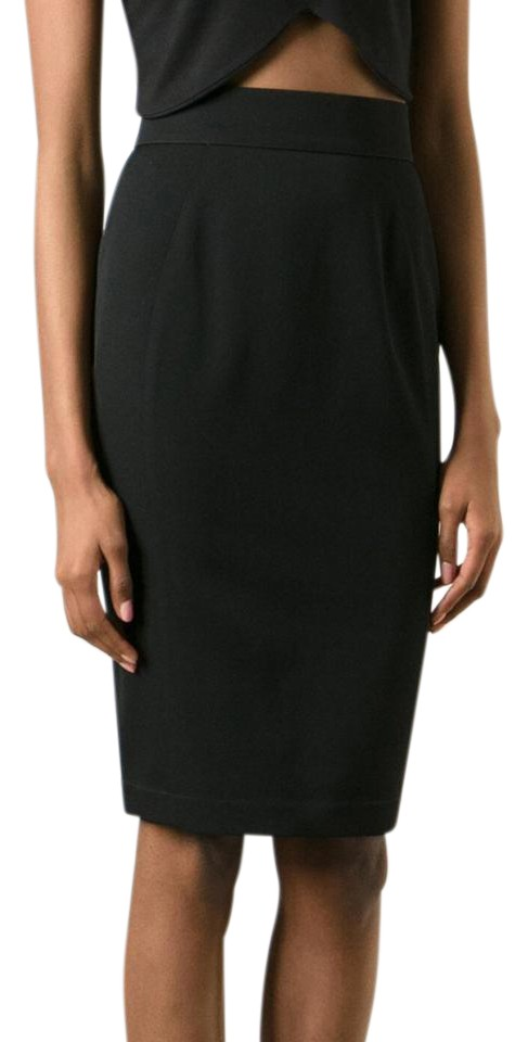 Provided Thierry Mugler Black Pencil Skirt Skirts