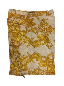 Versace Donatella Cc Chanel Skirt Gold