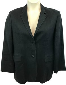 Brooks Brothers Linen Jacket Black Blazer