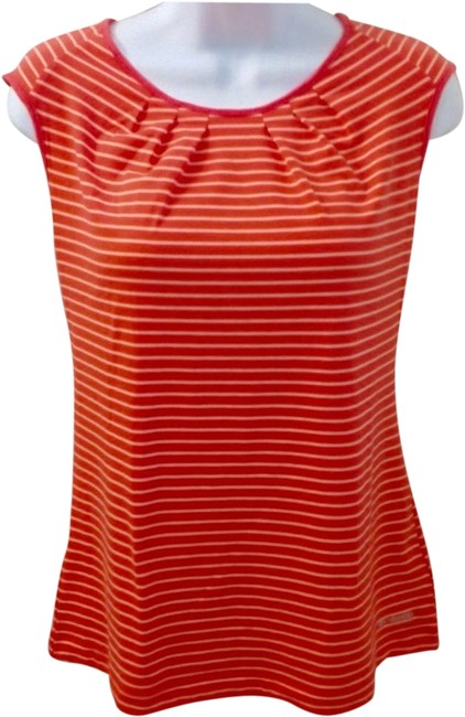 Preload https://img-static.tradesy.com/item/21722491/columbia-sportswear-company-orange-striped-omni-wick-women-s-short-sleeve-shirt-tank-topcami-size-10-0-3-650-650.jpg