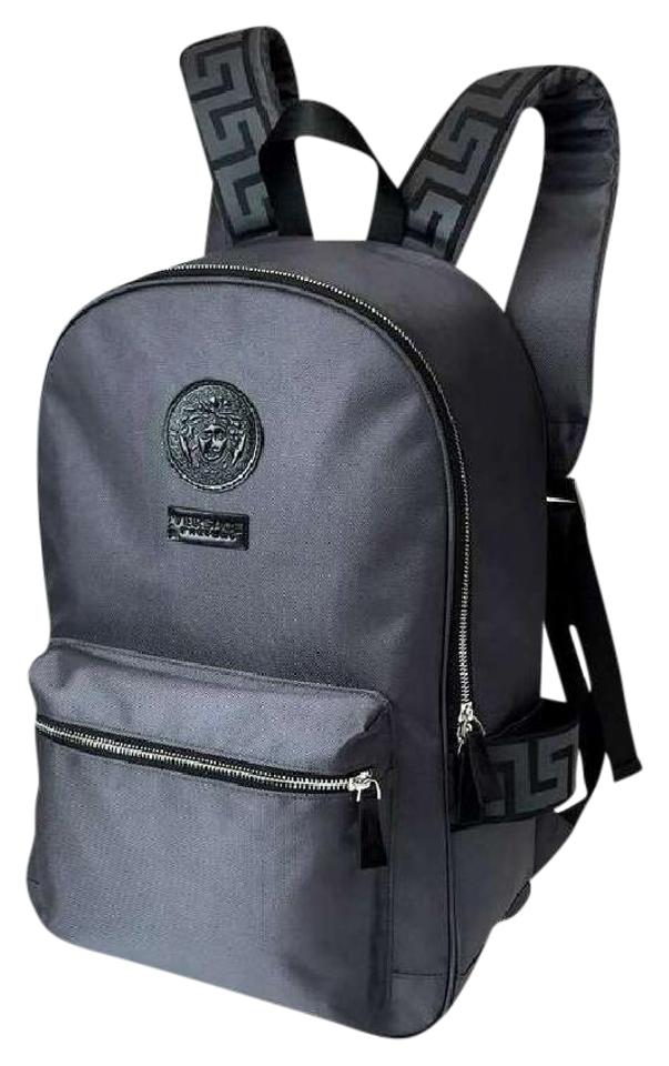 Versace New Men s Logo Lightweight Perfume Gray Nylon Backpack - Tradesy 316aa121b753a