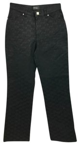 Versace Italy Black Straight Pants