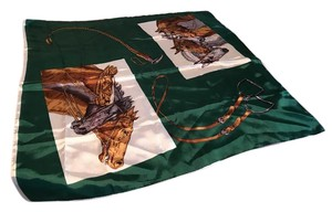 Other VINTAGE EQUESTRIAN RACE HORSE SCARF JAPAN 31X31 PRISTINE