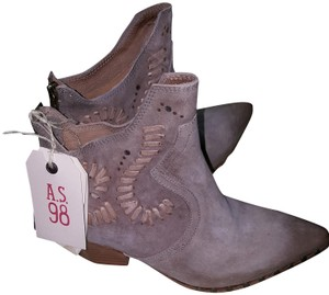 A.S. 98 Mid-calf Made In Italy Size Eu 38 / Us 7.5 Taupe Boots