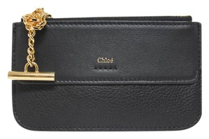 Chloe New Chloe Drew Black Grained Leather Coin Purse Wallet Bag