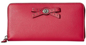 Coach Coach 53903 Amaranthe Bow Turnlock Leather Zip Around Large Wallet