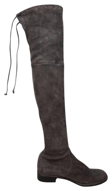 Item - Londra Grey Lowland Over The Knee Suede Boots/Booties Size US 8.5 Regular (M, B)
