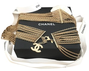 Chanel Chanel Gold Tone Multistrand Chain CC Charm Belt