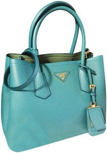 615b34e63686 Prada Double Mint Bi-color Cuir Handbag Turchese and Acquamarina ...