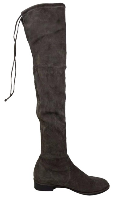 Item - Londra Grey Lowland Over The Knee Suede Boots/Booties Size US 10 Regular (M, B)