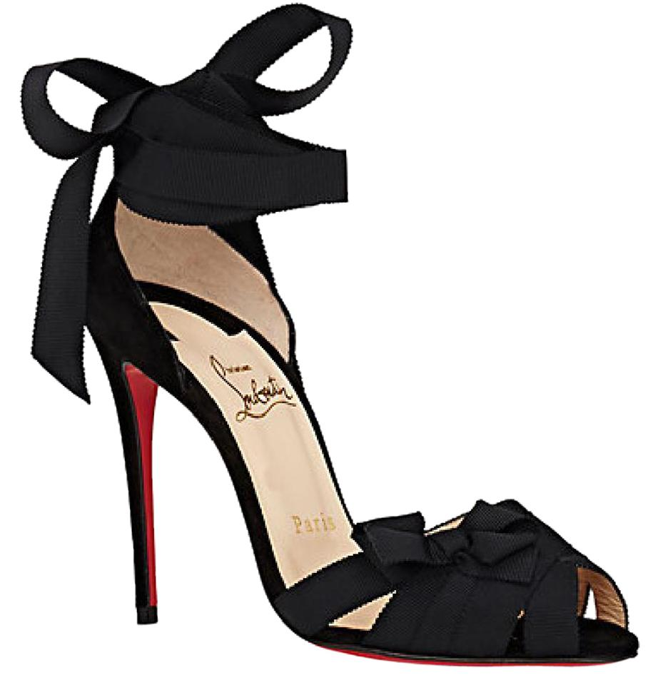 c611bda022c Christian Louboutin Heels Christeriva Ribbon Wrap Around Lace Up Black  Pumps Image 0 ...