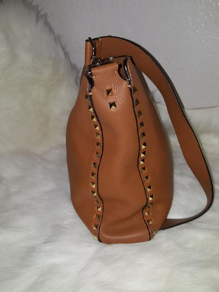 Brown 'vitello' Bag Rockstud Hobo Leather Valentino 4HCEqBwC