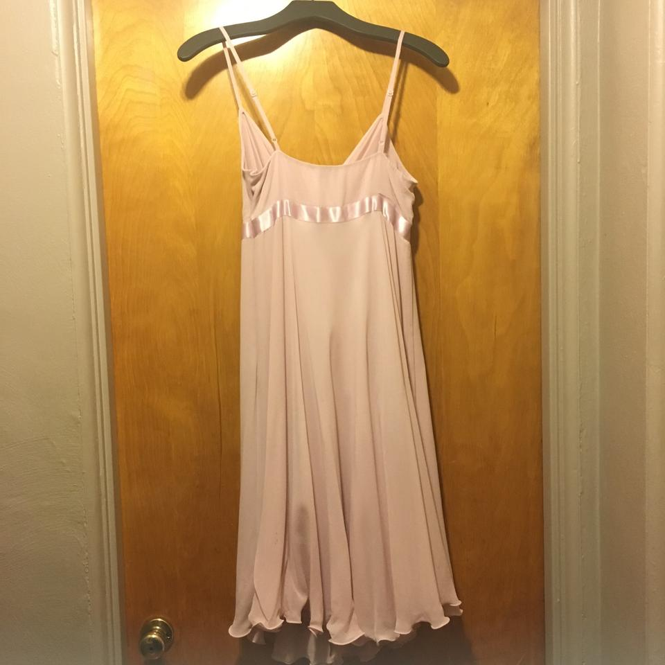 Express Light Pink Spaghetti Strap Dressing Mid-length Cocktail ...