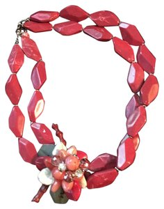 Ann Taylor LOFT blossom bauble coral colored