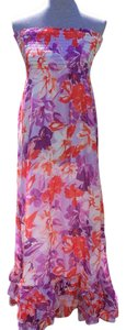 Purple, Orange, White Maxi Dress by Aéropostale