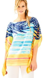 Lilly Pulitzer Top Blue Crush Sunset Stripe