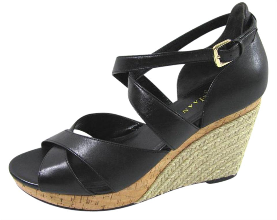 8635483aebdb Cole Haan New Raffia Woven Heels Platform Sandals Nike Air Open Toe black  Wedges Image 0 ...