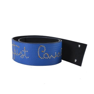 Just Cavalli Just Cavalli Women's Blue 100% Leather Metal Studs Decorated Belt US S