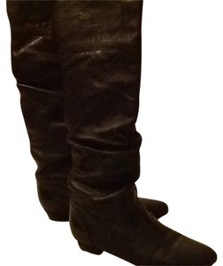 Steve Madden leather boots black Boots
