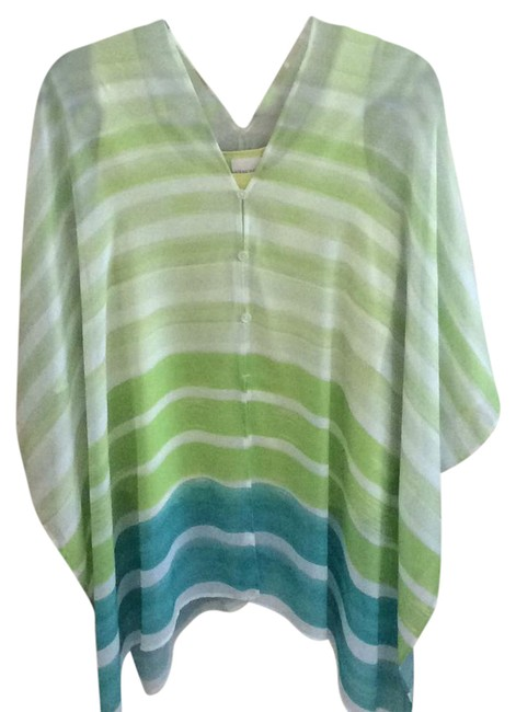 Item - Lime Green White and Turquoise 007 Tunic Size 10 (M)