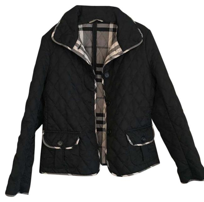 Item - Black Quilted Cropped Jacket Size 12 (L)