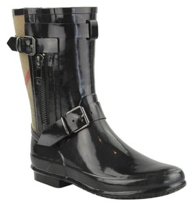 Burberry Rain Rubber Black Multi Boots