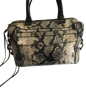 Rebecca Minkoff Satchel in black and beige body