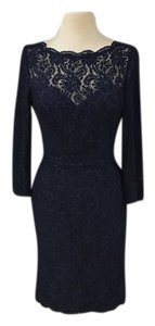Watters Navy Lace 2251 Bridesmaid/Mob Dress Size 8 (M)